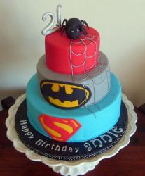 Superhero Birthday Cake on Tier Superhero Theme Birthday Cake Jpg