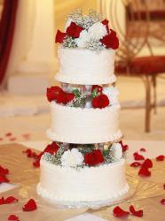 round wedding cakes with red roses wedding cake pictures p 2 19339