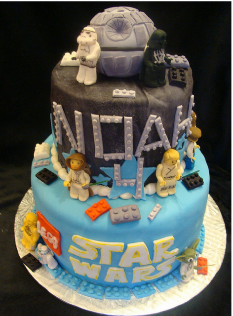 Star Wars Birthday Cake Toppers First star wars cake topper