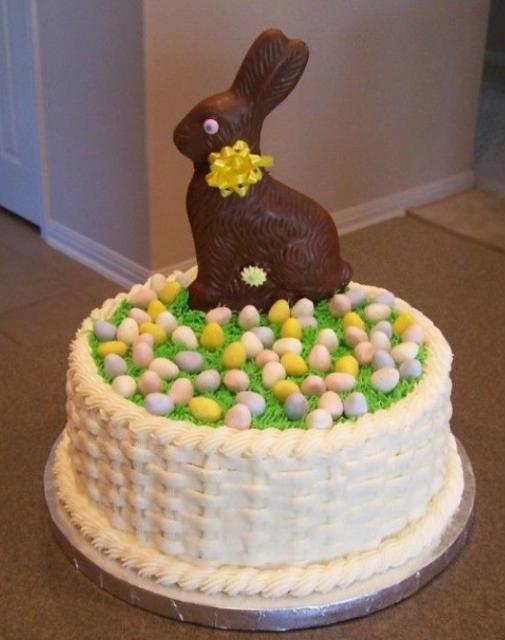 Chocolate Bunny Cake Topper