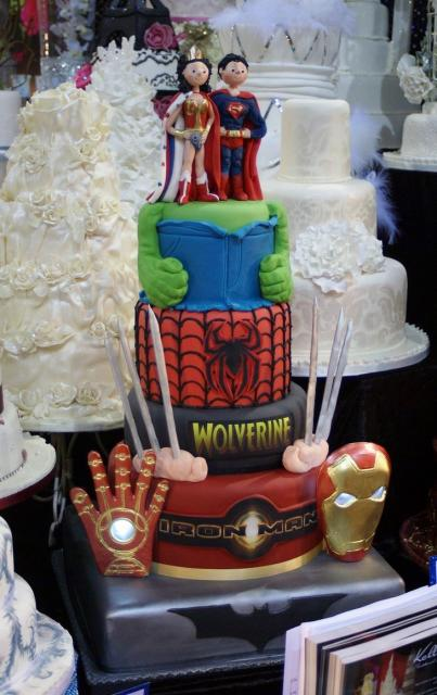 superman and wonder woman wedding cake toppers theme 4 tier wedding cake with superman amp 20615