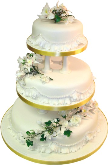 3 tier wedding cake s gold wedding ring a tradition 1100