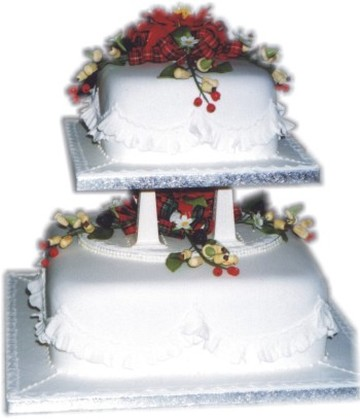 simple wedding cakes with flowers. simple wedding cake with red