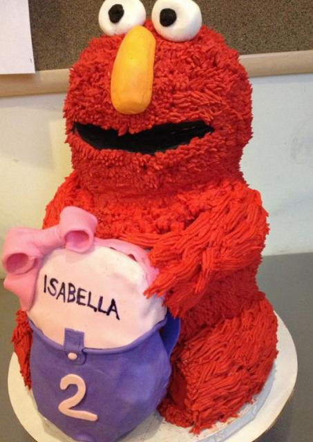 Birthday Cake For 2 Year Old Baby Girl Pictures : Elmo birthday cake for 2-year-old girl.JPG