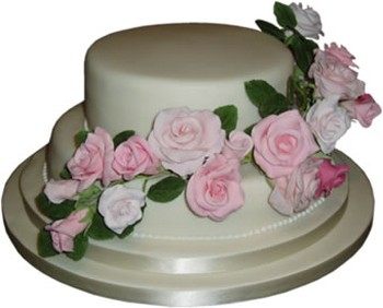 2 tier wedding cakes with red roses 2 tier wedding cake with pink roses 10176