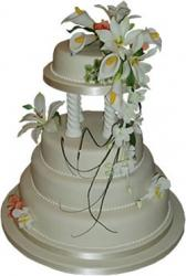 4 Tier Wedding Cake photo