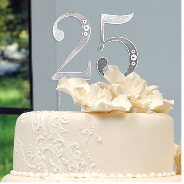 Stylish 25 Anniversary Cake Tupper ImagesPNG