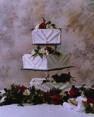 white square wedding cakes with flowers white square wedding cakes with flowers 27326