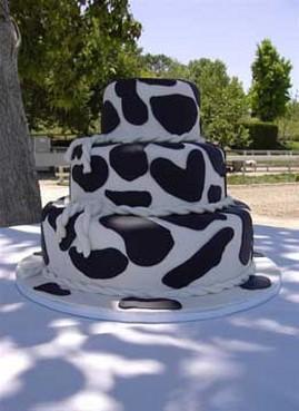 Cow Print Wedding Cakes
