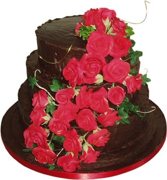 chocolate wedding cakes with red roses chocolate wedding cakes with roses 12804