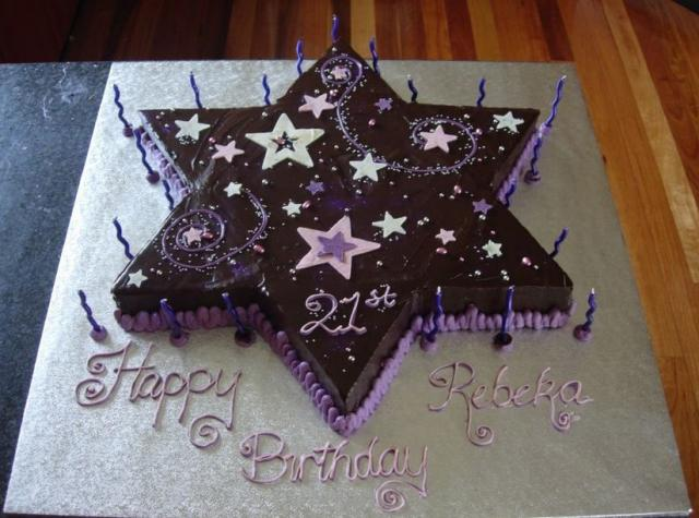Star chocolate birthday cake.jpg