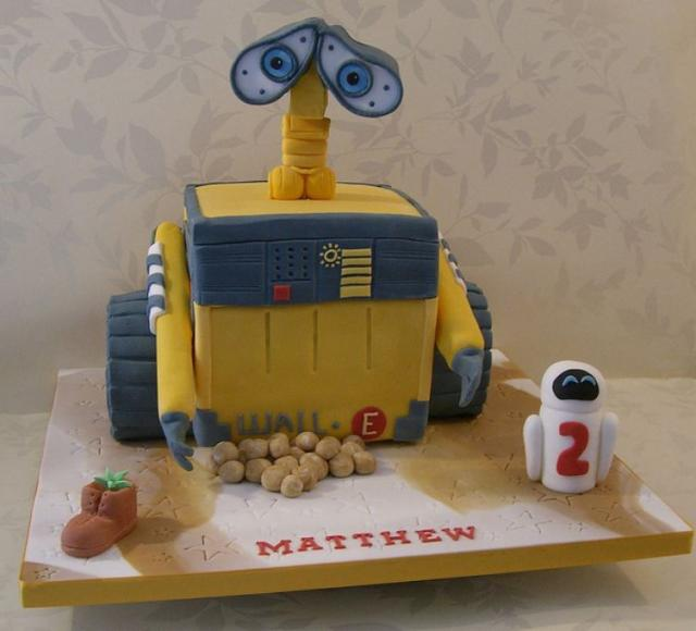 Detailed Disney Wall-E cake for 2-year-old.JPG
