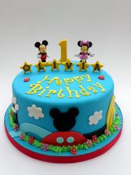Mickey & Minnie Mouse First Birthday Cake in blue.JPG