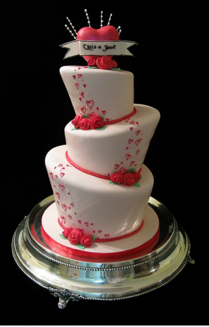 Heart Wedding Cake Topper PicturesPNG 1 Comment