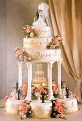 group of wedding cakes photo
