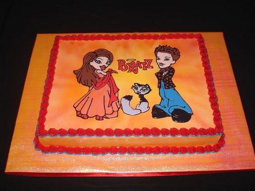 Astonishing Bratz Birthday Cake Personalised Birthday Cards Akebfashionlily Jamesorg