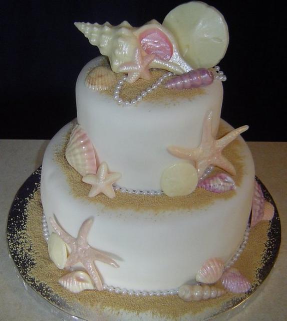 Beach Theme Bridal Shower Cake Photos Jpg