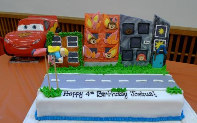 Photo Of Birthday Cake For 4 Year Old Boy A Flying Hero
