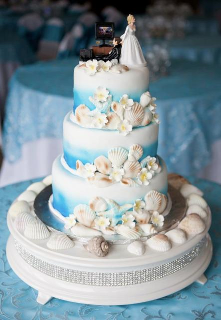 ocean theme 3 tier wedding cake with sea shells humorous bride groom topper jpg hi res 720p hd. Black Bedroom Furniture Sets. Home Design Ideas