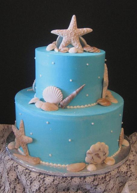 Image Of Sea Shells Bridal Shower Cake Jpg Hi Res 720p Hd
