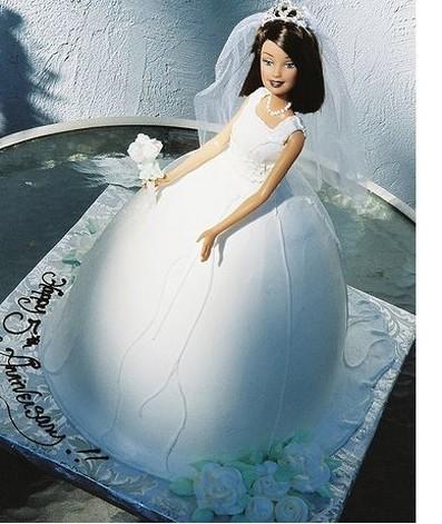 Photo Of Bridal Barbie Cake For Bridal Shower Jpg 1 Comment
