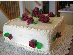 photo of bridal shower cake with dark red roses.jpg