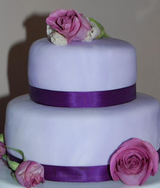 purple bridal shower cake with roses photojpg