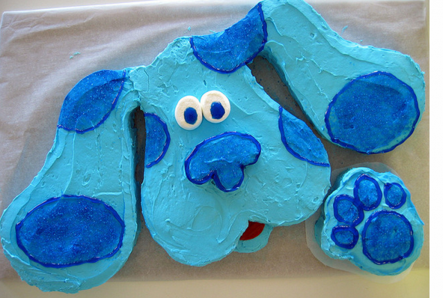 How To Make A Blues Clues Cake