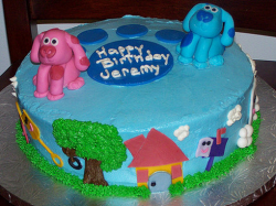 Blues Clues cake toppers with Blue and Magenta.PNG