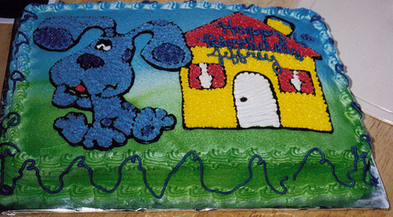 Blues Clues cake with Blue and Blue's house cake decors.PNG