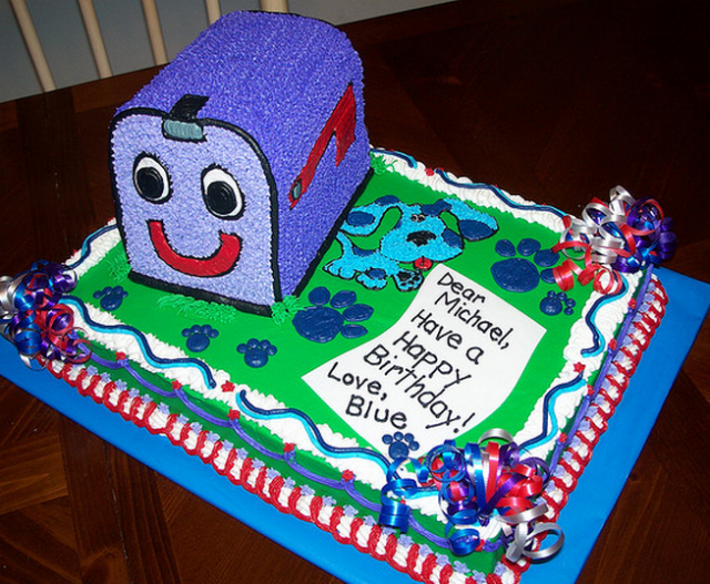 blue birthday cake blues clues friend mail box birthday cake topper png 1922