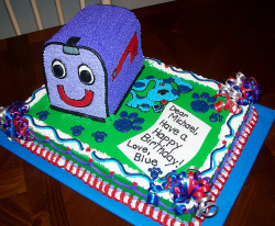 Blues Clues friend Mail Box birthday cake topper.PNG