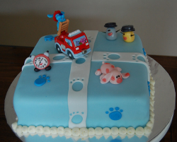 Blues Clues game playing fire truck_trendy Blues Clues birthday cakes pictures.PNG