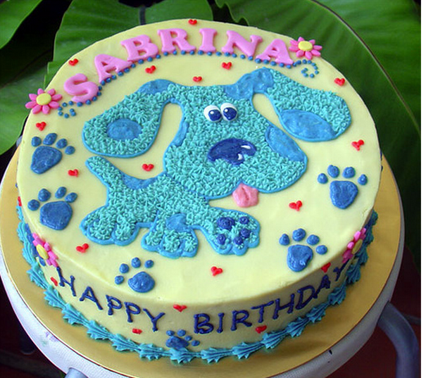 Toddler birthday cakes ideas for girls_this Blues Clues birthday cake is perfect for girls birthday theme.PNG