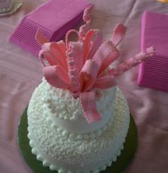 Small Bridal Shower Cake with pink cake top.jpg