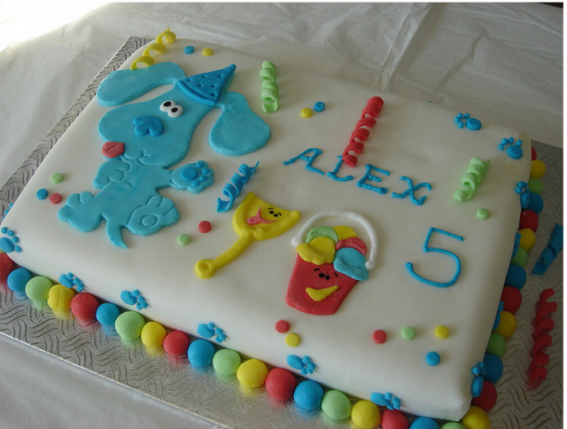 Brilliant Toddlers Birthday Cakes Ideas Blues Clues Birthday Cake With Blue Personalised Birthday Cards Fashionlily Jamesorg