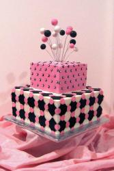 Stylish Pink Black and White Square Bridal Shower Cake.jpg
