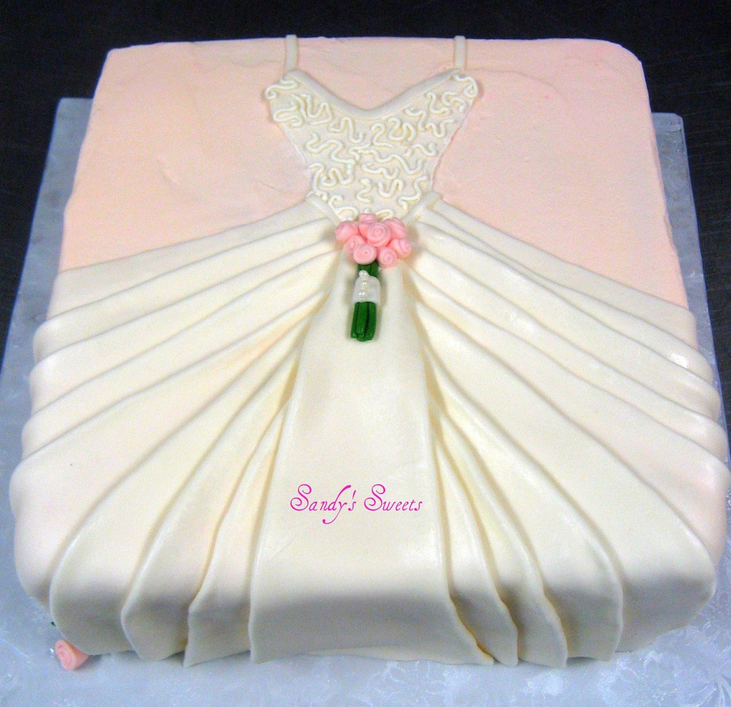 wedding shower dresses on Full Size  Wedding Dress Bridal Shower Cake Photo Jpg Full