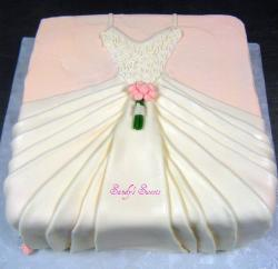 wedding dress Bridal Shower Cake photo.jpg