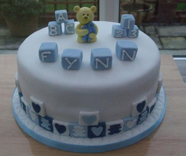 Cake Images With Name Rohit : Birthday cake with play blocks and teddy bear.jpg (2 ...