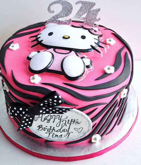 Black And Pink Hello Kitty With Decor Topper Png 5