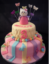 Colorful hello kitty with hello kitty cake toppers.PNG