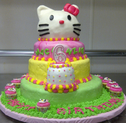 Three tiers hello kitty cake with hello kitty head cake decors.PNG