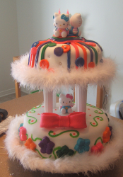 2 tiers hello kitty with colorful cake decors.PNG