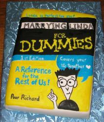Funny Groom's Cake in the For Dummies book series theme.JPG