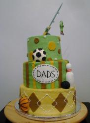 Fishing & Sports theme 3 tier Father's Day Cake.JPG