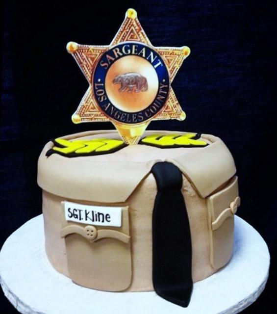 Sheriff Lawman Theme Cake with Star Badge & Tie.JPG