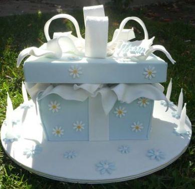birthday cake gift. box two tier irthday cake