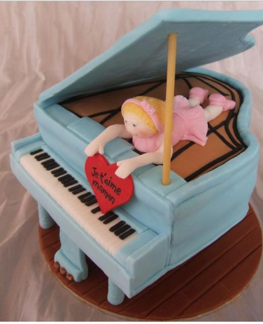 Cool Powder Blue Piano Birthday Cake Jpg Hi Res 720p Hd