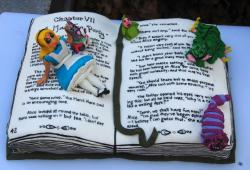 Cool Storybook birthday cake with Alice in Wonderland theme.JPG